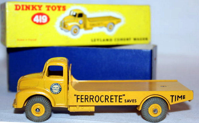 dinky toys scale 1 48 leyland comet portland cement truck no 419