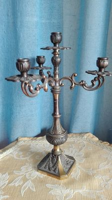 Four brass candlestick candles