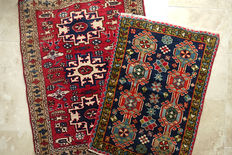 Set of  2 Beautiful  Nomadic Tent  Rugs  circa 1990 in Excellent condition
