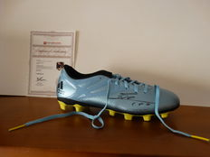 Lionel Messi hand signed Adidas football boot + official COA