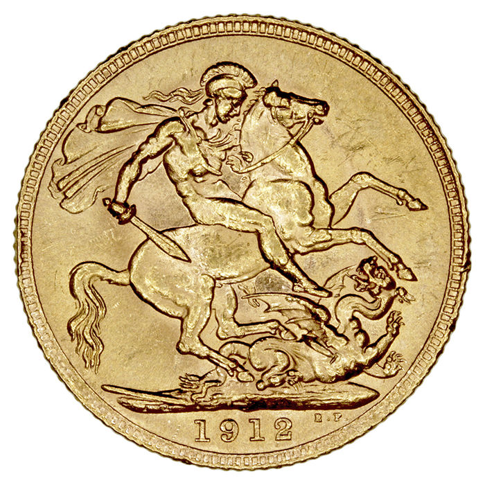United Kingdom – Sovereign, 1912 – George V – Gold