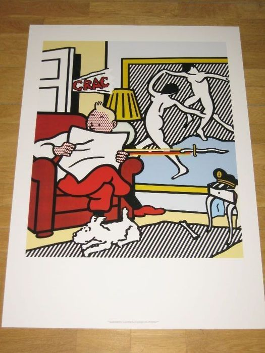 Roy Lichtenstein (after) - TinTin Reading - Catawiki