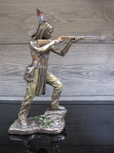Indian Warrior shooting - 2nd half of 20th century, United States