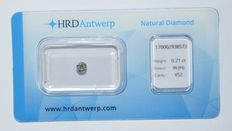 0.21 ct briljant geslepen diamant, W(H), VS2