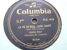 Frenche  Chansons : 29   78- rpm. with Edith Piaf/ Josephine Baker/ Lucienne Boyer and Many others