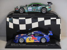 Minichamps - Scale 1/43 - Lot with Aston Martin DBRS9 and BMW Z4 M Coupé