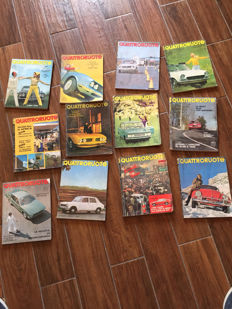 Complete lot of 24 Quattroruote magazines - 1971 and 1967