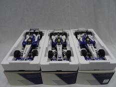 Minichamps - Scale 1/18 - Lot with 3 Williams F1 BMW models of Ralf Schumacher: FW25 / FW23 / FW26