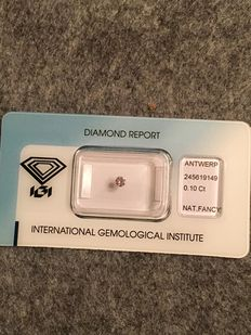 Natural pink diamond – IGI Antwerp report – 0.10 ct – ***** Low reserve price *****