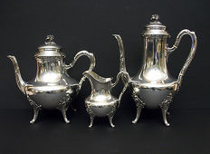 Silver Tea- / Coffee service, Louis Coignet, France, 1889-1893