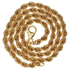 14 kt yellow gold rope link necklace - Length:  46 cm