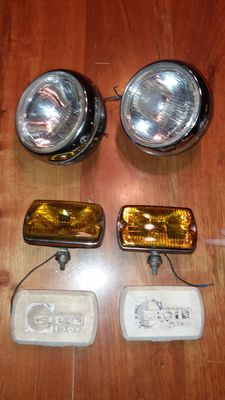 Batch of 2 pairs of CIBIE additional headlights - CIBIÉ Oscar & CIBIÉ iode 35 (Long range and Fog lights)