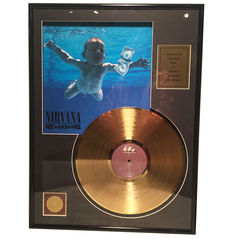 Nirvana - Never Mind - 24 K Gold plated Record