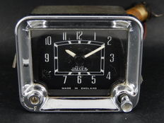 Vintage British Jaeger Auto Car Clock Timepiece For Dashboard Fitting Classic Car Square Oblong Shape
