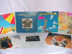 Lot of 6 Rare Albums including 2 double albums of Various Psychedelic Music incl. Jefforson Airplane, Vanilla Fudge, Every Mothers Son, It's a beautiful day and others.