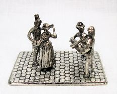 Silver miniature - Dancers and Musicians - H Hooykaas
