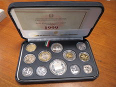 "Republic of Italy – divisional series Proof 1999 ""Alfieri"" (including silver)"
