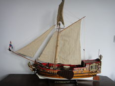 State yacht - wooden model boat to the original construction drawing from 1746