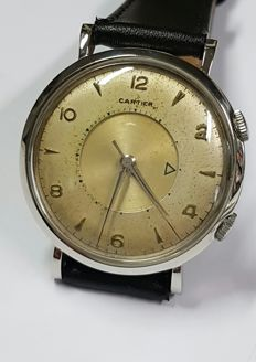 Cartier/Jaeger Lecoultre Memovox – Men's wristwatch – From the 1950s – Rare.