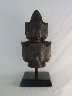 Bronze Buddha four faces - Cambodia - late 20th century