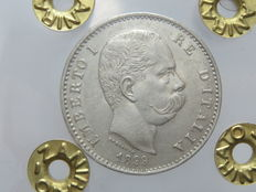 Kingdom of Italy – 1 Lira coin, 1899 – Umberto I – Silver