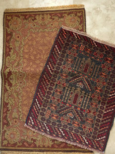 Set of  2 Beautiful  Nomadic Tent  Rugs  circa 1970 in Excellent condition
