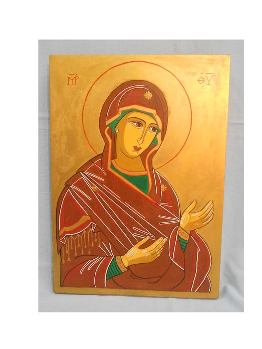 Icon on wood, particle board, end of the 20th century