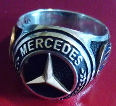 Mercedes Benz - Silver signet ring (925%) - 1990