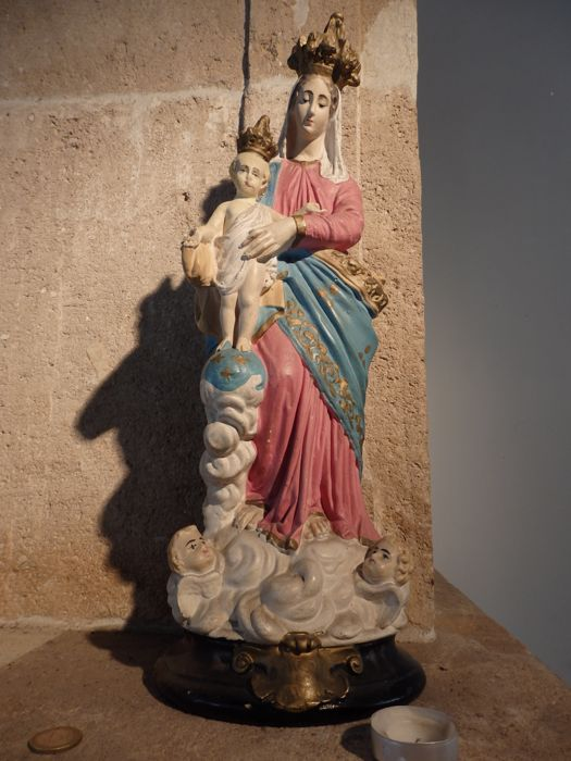 Wonderful large Mary statue, Notre Dame Des Victoires - FRANCE. 1900