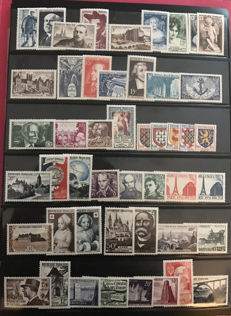 France 1950/1969 - Large nearly complete 19 year collection, between Yvert no. 863 and 1,620
