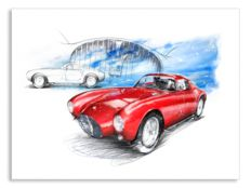 Maserati A6 GCS/53 Pinin Farina Berlinetta (1953) - Giclee Art Poster - limited edition of 100 pieces