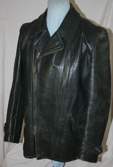 Very heavy leather jacket - Air Force - pilot's jacket. Very rare leather jacket