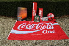 Several Coca Cola Light commercials mirror signs & large flag- most of the 20th century.