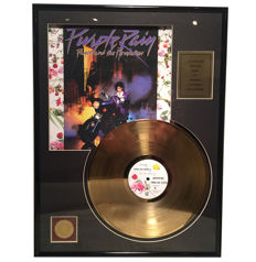 Prince - Purple Rain - 24 K Gold plated Record
