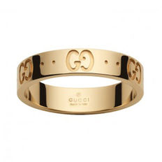"Gucci - ""Icon"" 18k Gold Ring - Thin Band"