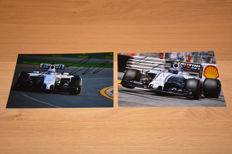 Valtteri Bottas/Felipe Massa/Williams/Formula 1 - 13x18 cm hand-signed photos