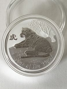 "Australia: Lunar II, ""Year of the Tiger"", 2010, silver coin 1 kg, Perth Mint Australia"