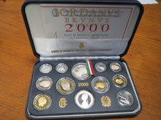 Republic of Italy – divisional series proof 2000 (including silver)