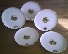 Original-Porcelain Bavaria Hohenberg - Collection of Dutch castles - with gold trim