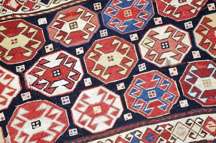 Rare and very nice Shahsavan Mafrash frontpart of these wellknown bags, Iran, antique, ca. 93 x 41 cm