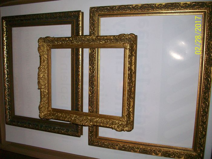 e668695e503 3 gilded decorative painter frames. - Catawiki