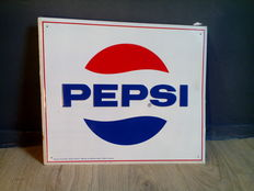 Pepsi - Reg. Trademark / Advertising sign / metal - Metal / Sign - late 20th century.