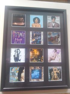 Framed Prince  Album cover Discography.