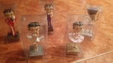 Betty Boop - 5x figurines / small statues - Polyresin - 12 to 15 cm tall