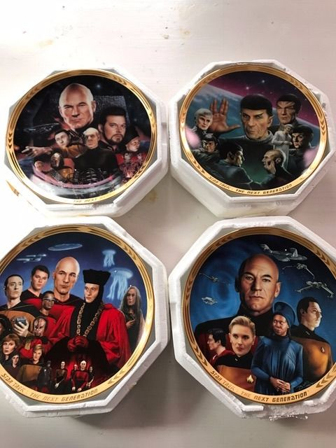 4 Star Trek - Hamilton collector plates