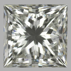 0.64 ct IGI PRINCESS CUT  Brilliant  I VS2  - Serial# 1626-original image-10x