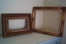 Two old wooden frames