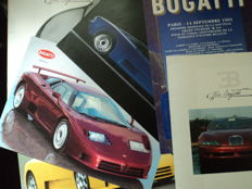 7 original Bugatti pictures and catalogues
