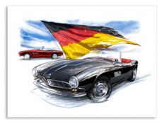 BMW 5071954 - Giclee Art Poster - limited edition of 100 pieces