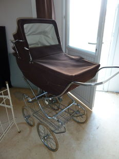 Old pram with carrycot and mattress
